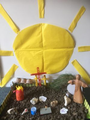 easter scene with sun