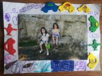 photo frame craft made by kids