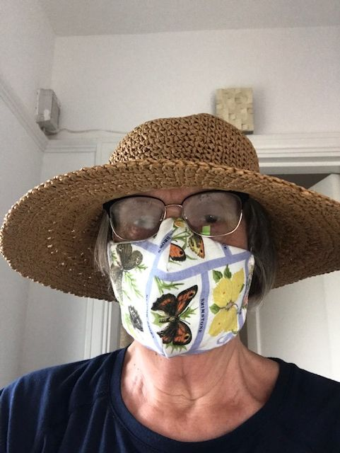 Sue in face mask