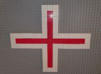 st georges cross in Lego