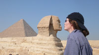person and sphinx