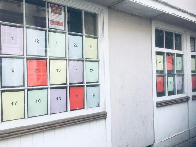 Parish Office Advent Window
