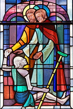 Stained Glass healing window