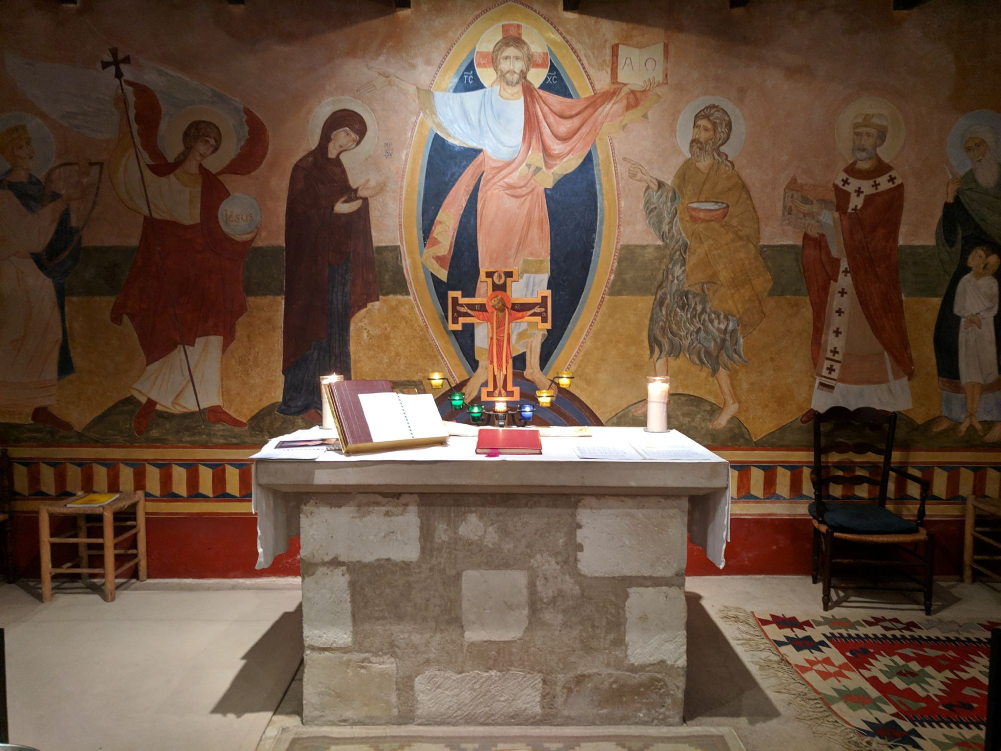 The Altar at Bishop Gregory's monastery