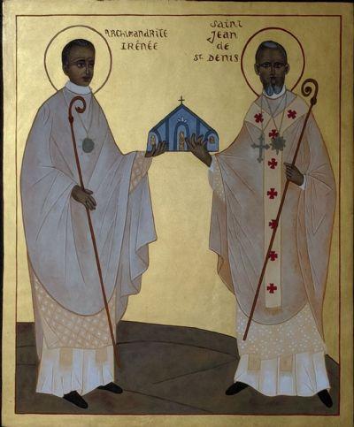 St John of Saint-Denis with St Irenaeus of Paris