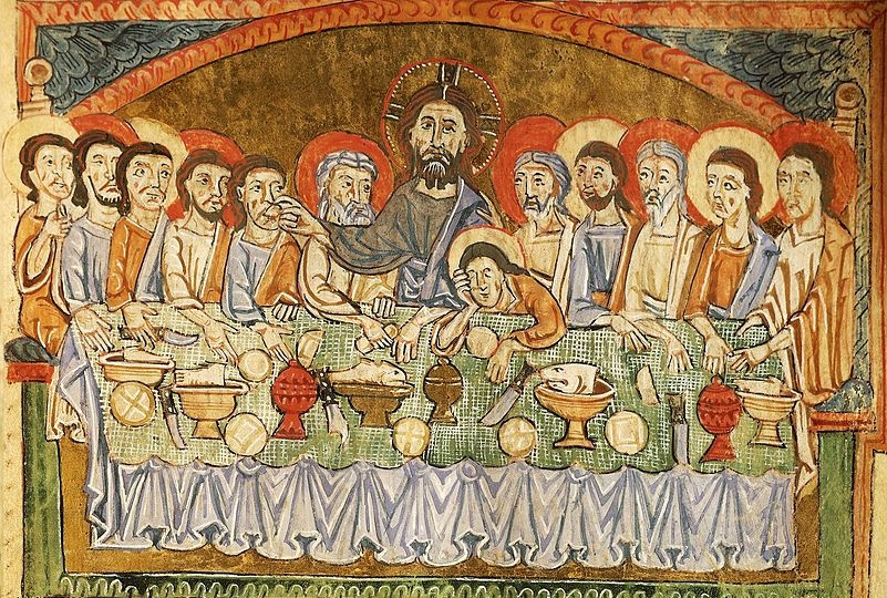 The Mystical Supper, from a 13th-century French manuscript