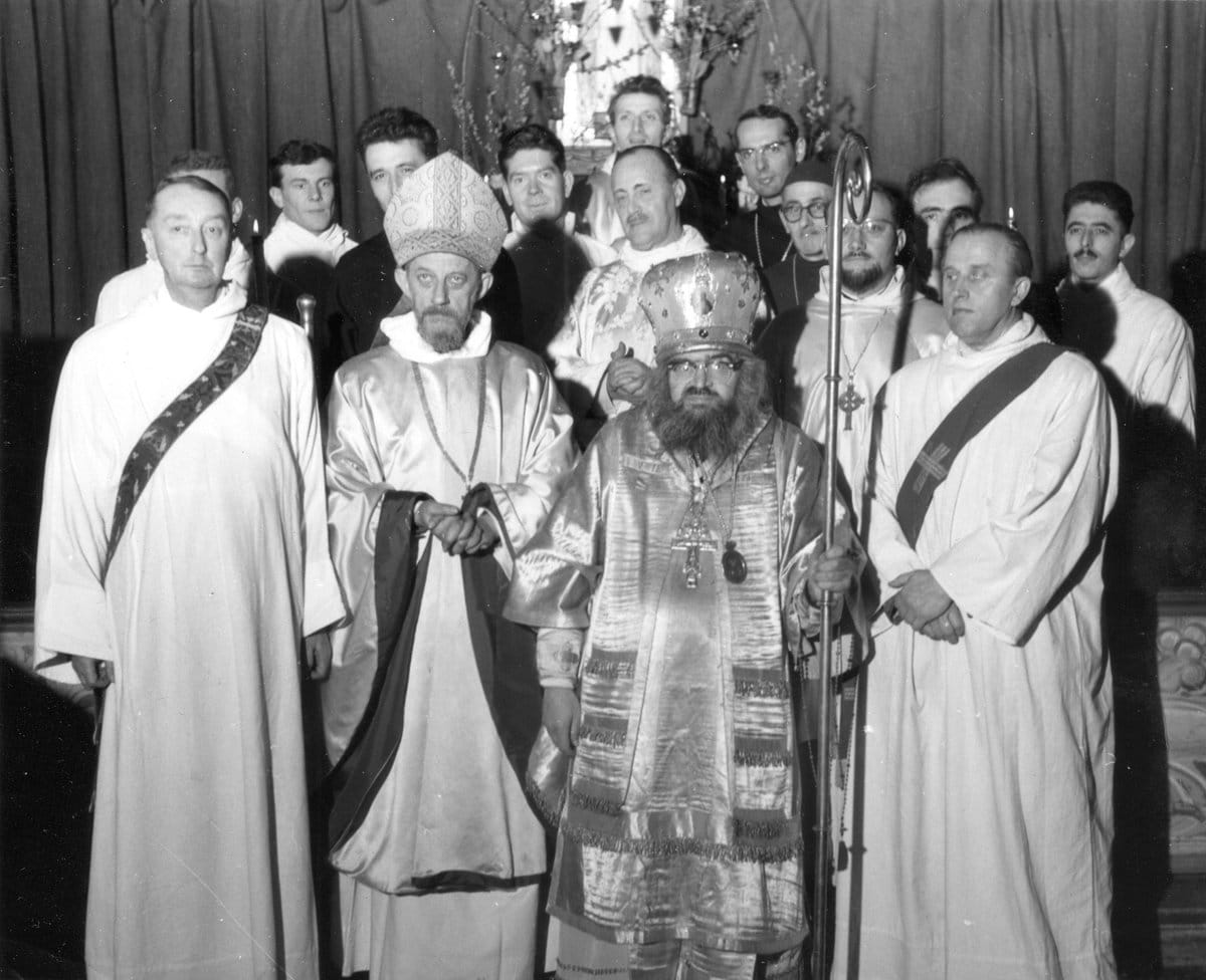 St John of Saint-Denis, St John Maximovitch and other Western Orthodox clergy in 1960s Paris
