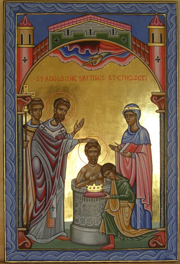 The Baptism of King Ethelbert by St Augustine