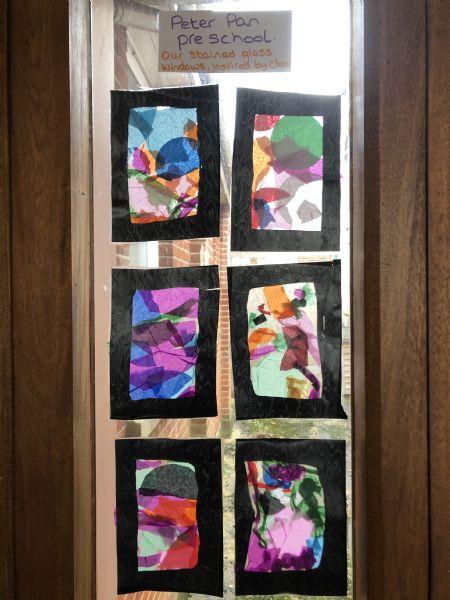 Pre School stained glass window 2019