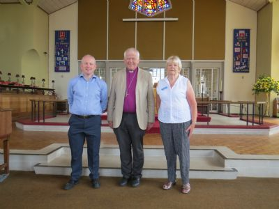 Bishop with churchwardens