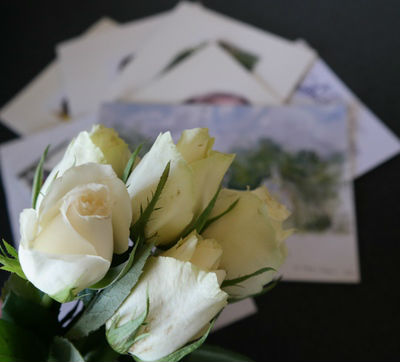 Picture of roses and service sheets
