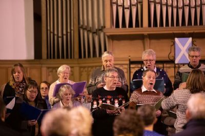 men's and Ladies choirs in action