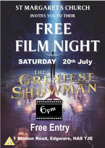 Film night July 2019 Greatest Showman