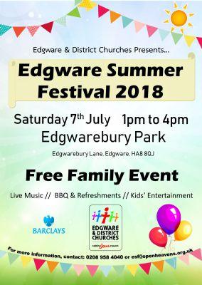Edgware Summer Festival 2018