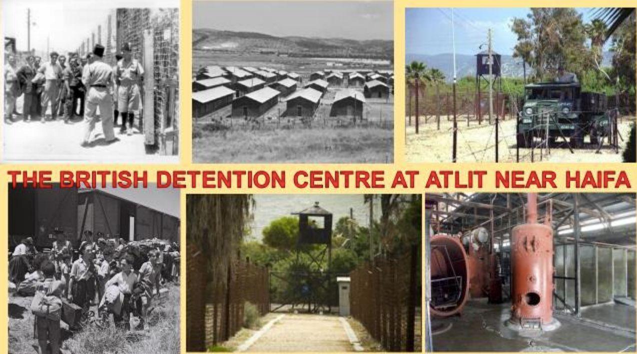 The British Detention Centre at Atlit near Haifa