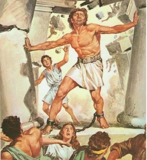 Samson breaking down the columns