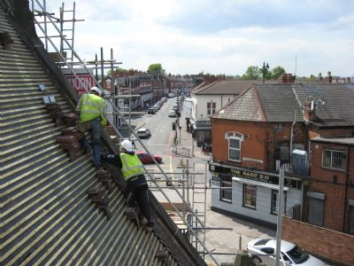 Sparkhill St John's Workers on Roof