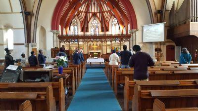 Worship back in Church