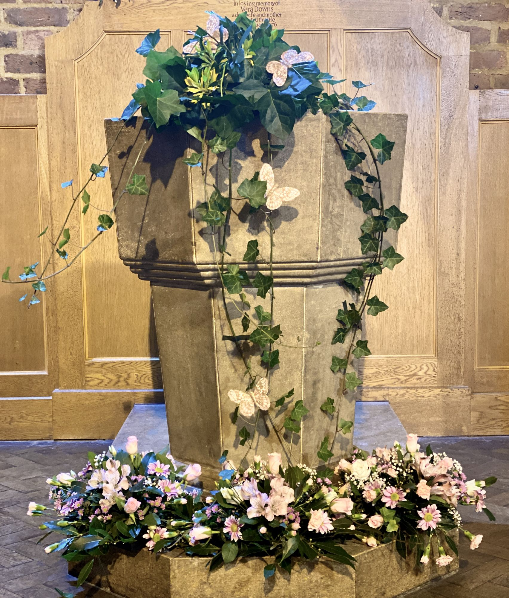 Baptism floral display