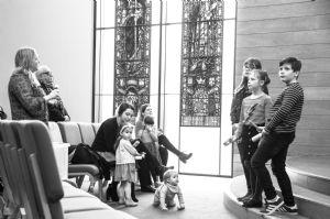 Children Enjoying the Service