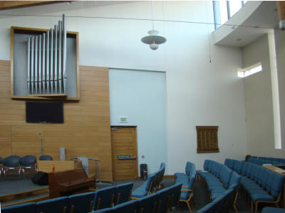 A view to the right of the Pulpit