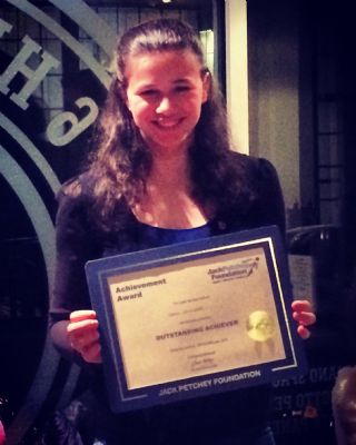 Congrats to Grace for her Jack Petchey Achievement Award !