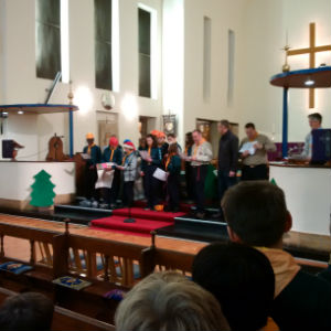 Scouts at  Carol Service