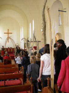 Indoor Palm Sunday procession 09