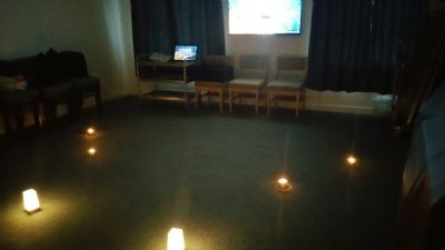 setting up for 'exploring worship' session