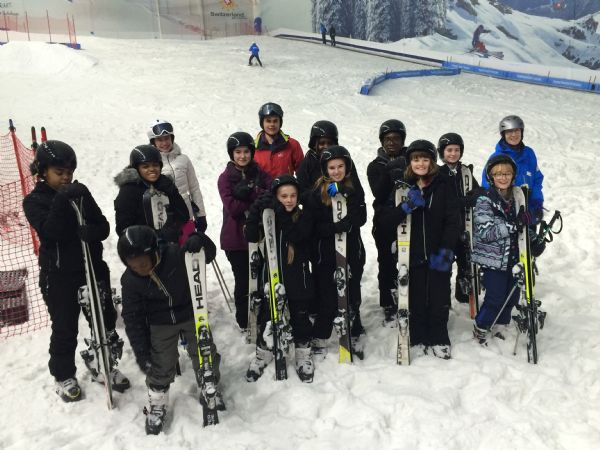 October half term group at Snowzone - most skiing for the 1st time!