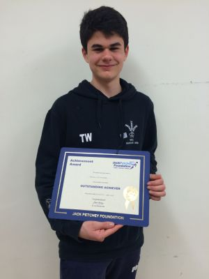 Congrats to Thomas for his Jack Petchey Achievment Award !