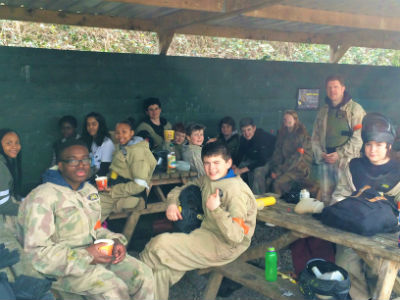 lunch break on paintball day out