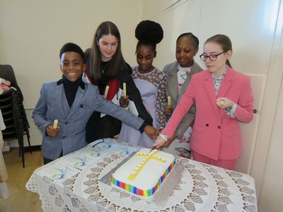 Congratulations & celebrations!  5 of our young people were Confirmed 17/02
