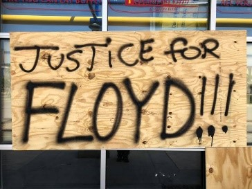 justice for floyd_black lives matter. Photo by 'peacemaker' Peter Anderson