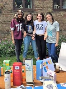 Young Leaders running tombola to raise funds_June 2018