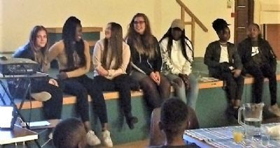 young people feedback and share learning from Malawi trip