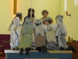 peeping at Baby Jesus