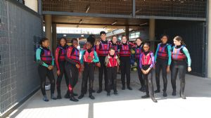 Wetsuited up ready for Kayak session