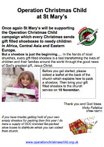 Operation Christmas Child at St Mary's