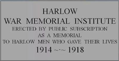 Harlow War Memorial