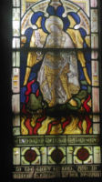 St Michael window at Thornhill