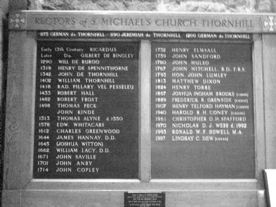 Rectors of Thornhill Board