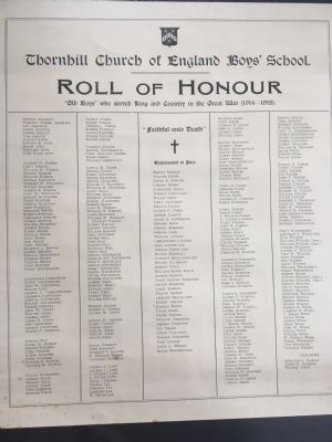 THornhill CEE school Roll of honour