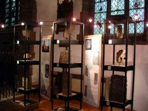 Runic stones display in Savile Chapel