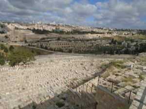 Tombs on the Mt of Olives awaiting the returof Christ