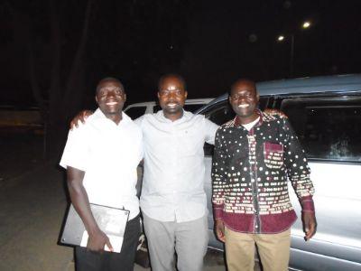 the local team - Pastors Patson, Marlon and Sakala