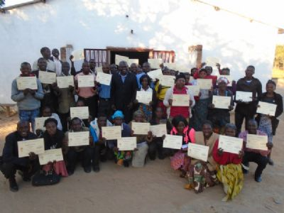attendees with certificates at Chitambo conference