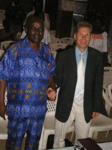 With Bishop Ambrose in Kisumu, Kenya