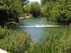 head of the Jordan river at Caesarea Philippi
