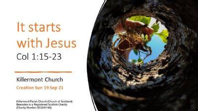 it starts with jesus